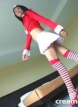 Thai cutie Wen in white skirt get a dripping hot creampie!