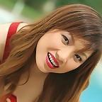 Asian Cutie Grace Shin Poolside Strip