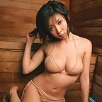 Smoking hot asian babe looks incredible in her skimpy red bikini