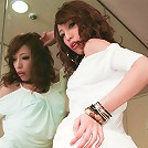 Aya Sakuraba shows off her smashing assets and swallows dick