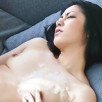 Ishiguro Kyoka fingered and teased in her white lingerie