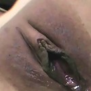 Cute petite small tit Thai babe sucks cock then gets a big creampie