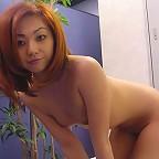Cute photos of my sexy japanese wife posing nude on sofa