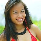 18 year old Thai teen Thainee in Red bikini