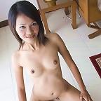 Light skinned Thai girl Fa posing nude