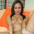 Cutie Kimmy Thai loves her dildo!